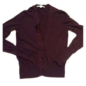 Loft sz Small dark purple cardigan